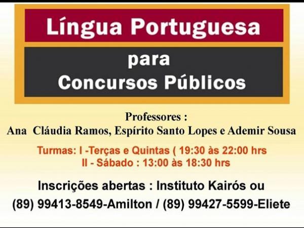 Êxito Assessoria e Instituto Kairós promovem Curso de Língua Portuguesa para Concursos