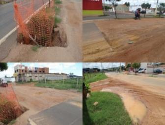 Empresa conclui etapa de obra de galeria e não recupera asfalto da avenida Transamazônica em Oeiras